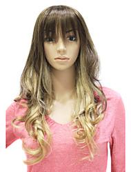 preiswerte -Synthetische Perücken Locken / Klassisch Stil Kappenlos Perücke Synthetische Haare 22 Zoll Damen Perücke