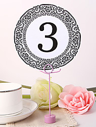 cheap -Place Cards and Holders Round Table Number Card - Portor Gold