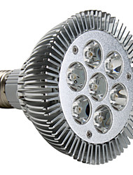 7W E26/E27 LED Spotlight PAR30 7 High Power LED 600-700lm Warm White 3000K AC 220-240V 1pc