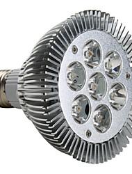 7w e26 / e27 led spotlight par30 7 haute puissance led 600-700lm blanc chaud 3000k ac 220-240v 1pc