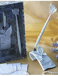 Недорогие -бабочка тематические свадьбы ручка устанавливается в белой смолы