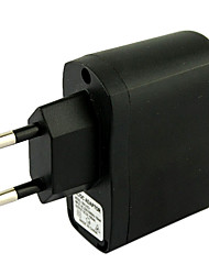 cheap -EU Plug USB AC DC Power Supply Wall Charger Adapter MP3 MP4 DV Charger (Black)