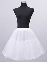 Slips A-Line Slip Short-Length 2 Nylon Tulle Netting White Black