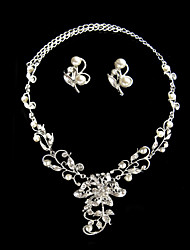 Jewelry Set Women's Anniversary / Wedding / Engagement / Birthday / Gift / Party / Daily Jewelry Sets AlloyPearl / Rhinestone / Cubic