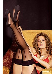 cheap -Women's Hosiery Thin Stockings,Nylon Patchwork Sexy Black/Red