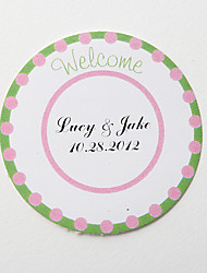 "cheap -Personalized Round Favor Stickers – Green ""Welcome"" (Set of 36)"