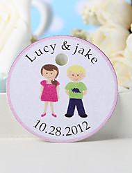 baratos -tag favor personalizado - menino bonito e menina (conjunto de 36)