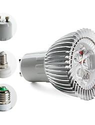 e14 gu10 e26 / e27 levou spotlight mr16 3 led de alta potência 270lm branco quente 3000k ac 85-265v