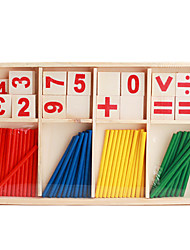 cheap -Wooden Arithmetic Sticks Props Set for Children