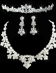 cheap -Women's Rhinestone Wedding Party Anniversary Birthday Engagement Gift Alloy Earrings Necklaces Tiaras
