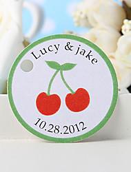 baratos -etiqueta de favor personalizada - cereja (conjunto de 36) favores de casamento lindos