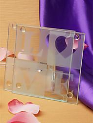 kærlighed glas coastere (sæt med 2)