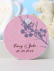 baratos -etiqueta de favor personalizada - flor de ameixa (conjunto de 36) favores de casamento