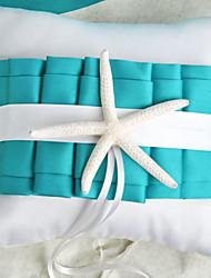 Недорогие -пляжная тематическая синяя обручальная подушка с свадебной церемонией