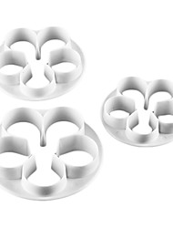 Rose Shape Cake and Cookie Cutter Mold (3 Pieces) Bakewares Decoration