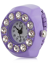cheap -Women's Ring Watch Japanese Quartz Imitation Diamond Band Sparkle Purple