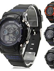 baratos -Homens Relógio Multifunções / Relógio Esportivo / Relógio Militar Alarme / Calendário / Cronógrafo Borracha Banda / LCD