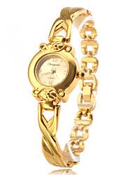 economico -Da donna Orologio alla moda Orologio braccialetto Quarzo Lega Banda classe Oro Dorato