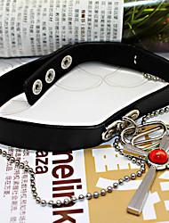 Schmuck Inspiriert von Vampire Knight Cosplay Anime Cosplay Accessoires Halsketten Schwarz Legierung / PU Leder Mann