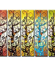 levne -ručně malované abstraktní olejomalba s natažené rámem - sada 5