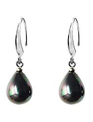 abordables -gouttelettes shell perle boucles d'oreilles noce élégant style féminin