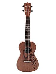 Недорогие -Rainie - (CC-01) высокого великого твердых гавайская гитара концерт красного дерева с концерта мешок / тюнер (кофе татуировки)