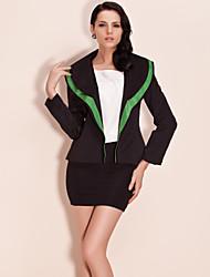 billiga TS®-ytterkläder-Färgblock Arbete Blazer-Vintage Dam Lappverk