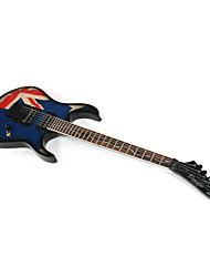 Недорогие -Профессиональная Электрогитара с мешком, Деруло - дизайн Британский флаг Stratocaster / ремешок / выборка / Кабель