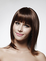 cheap -Capless 100% Human Hair Medium Length Bob Style Hair Wig 5 Colors To Choose