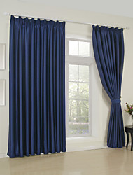 cheap -Rod Pocket Grommet Top Tab Top Double Pleat Two Panels Curtain Modern Solid Bedroom 65% Rayon/35%Polyester Rayon Material Curtains Drapes