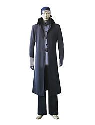 Недорогие -Вдохновлен Наруто Ibiki Morino Аниме Косплэй костюмы Косплей Костюмы Однотонный Длинный рукав Пальто / Брюки / Пояс Назначение Муж.