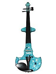 Недорогие -Cozart - (ML024-C5) 4/4 Czechic Кристалл инкрустированные Электрические скрипки с Case / Лук / Канифоль / кабель / Аккумулятор / Extra Crystal / Клей