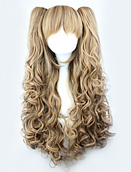 cheap -Lolita Wigs Sweet Lolita Yellow Lolita Lolita Wig 70 CM Cosplay Wigs Solid Wig For