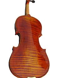 Недорогие -4/4 полноценные 1-кусок клена пламени скрипка снаряжение