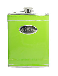 Gift Groomsman Personalized Green 8-oz Flask