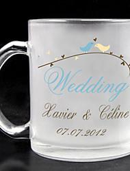 personalizado de vidro fosco - casamento