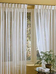 cheap -Two Panels Curtain Modern , Solid Linen / Cotton Blend Material Sheer Curtains Shades Home Decoration For Window