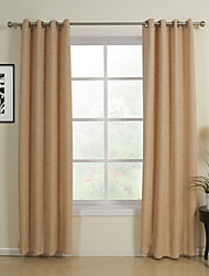 cheap -One Pair Classic Khaki Solid Energy Saving Curtains Drapes