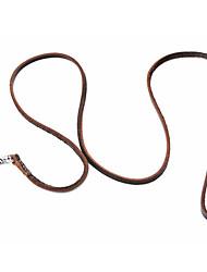 Недорогие -классические верхний слой кожи собаку поводком (120cm/47inch, коричневый)