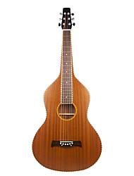Недорогие -Aiersi - (01HBR) Фанера Mahogany Rope привязки Weissenborn гитары / Акустические гавайская гитара Слайд с Gig Bag (Satin)