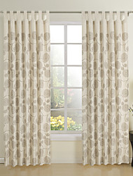 Two Panels Curtain Baroque , Novelty 55% Linen/45% Rayon Linen / Cotton Blend Material Curtains Drapes Home Decoration For Window