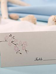 sted kort og holdere bordkort - Peach Blossom (sæt af 12)
