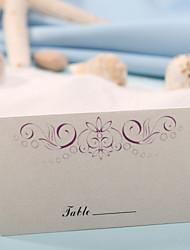sted kort og holdere bordkort - lilla blomster print (sæt af 12)