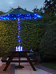cheap -Solar 100-LED Blue Light Outdoor Fairy Lights Christmas Decoration Lamps