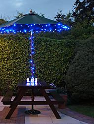 Недорогие -Солнечные 100-светодиодные Blue Light Открытый гирлянды ламп рождественские украшения