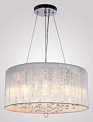 cheap -QINGMING® 4-Light Drum Chandelier Uplight - Crystal, 110-120V / 220-240V, Warm White, Bulb Not Included / 10-15㎡ / E12 / E14