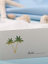 placere kort og indehavere bordkort - kokosnød træ (sæt af 12)