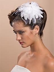 Hochzeitsschleier Einschichtig Gesichts Schleier Netzschleier Schnittkante 11,81 in (30cm) Tüll