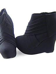 Schuhe Klassische/Traditionelle Lolita Lolita Keilabsatz Schuhe einfarbig 11 CM Für PU - Leder/Polyurethan Leder Polyurethan Leder