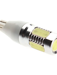T15 Car White 8W High Performance LED 6000-6500 Side Marker Light Reversing lamp High Output